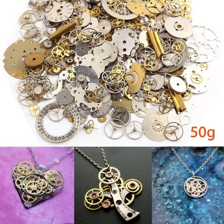Gears Altered Art (HALLOLURE 50g/Lot Vintage Steampunk Watch Parts Gears Wheels Altered Collage Art DIY Jewelry Making)
