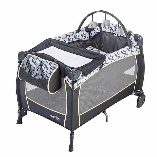Evenflo Portable BabySuite Deluxe, Raleigh Black