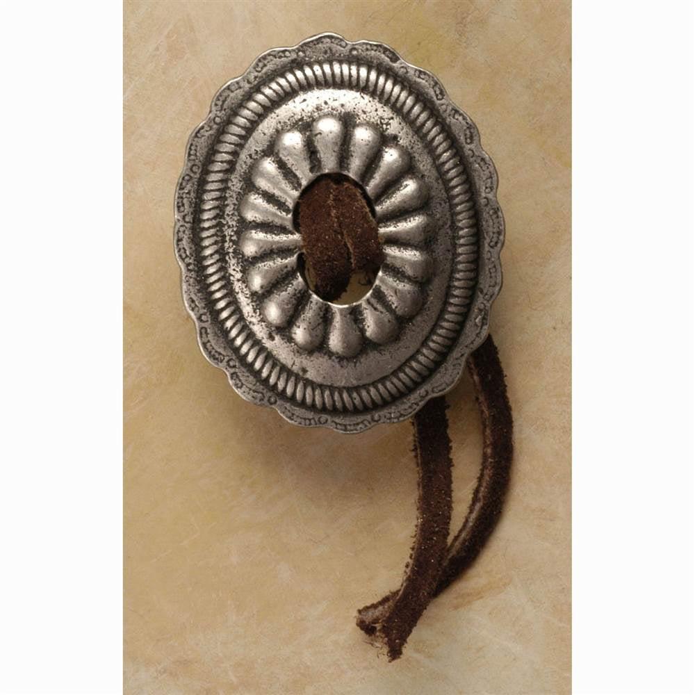 Concho w/leather-lg knob (Antique Bronze)