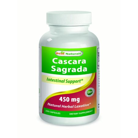 Best Naturals Cascara Sagrada 450 mg Capsules, 250
