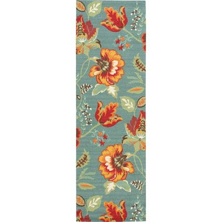Nourison Vista Polyester Perennial Runner Rug, 2'6
