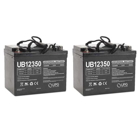 UB12350 12V 35AH Internal Thread Battery for Door King 6400 Gate 20W - 2 (Internal Door Pack)