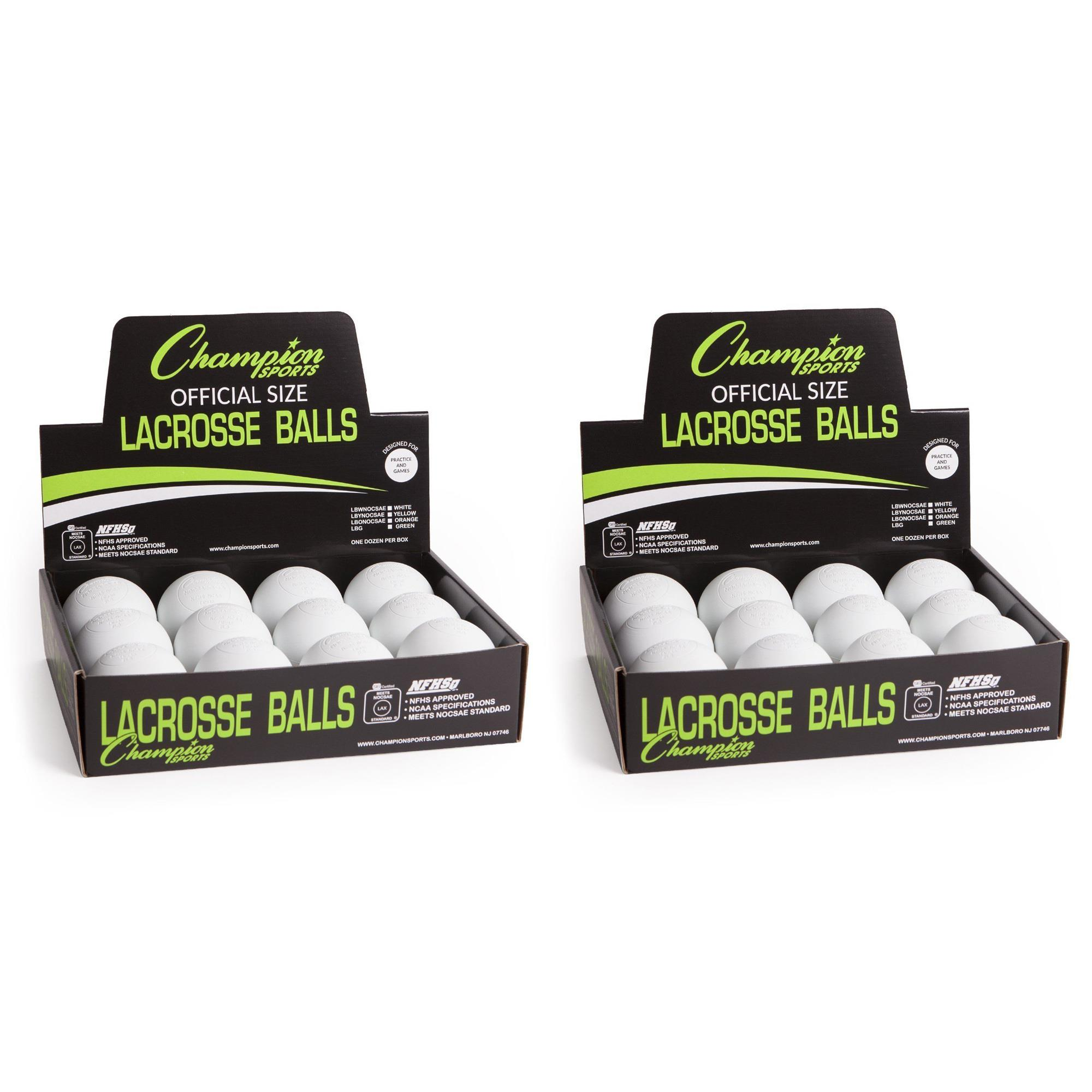 Champion Sports Official Lacrosse Balls-Pack (24-Pack)