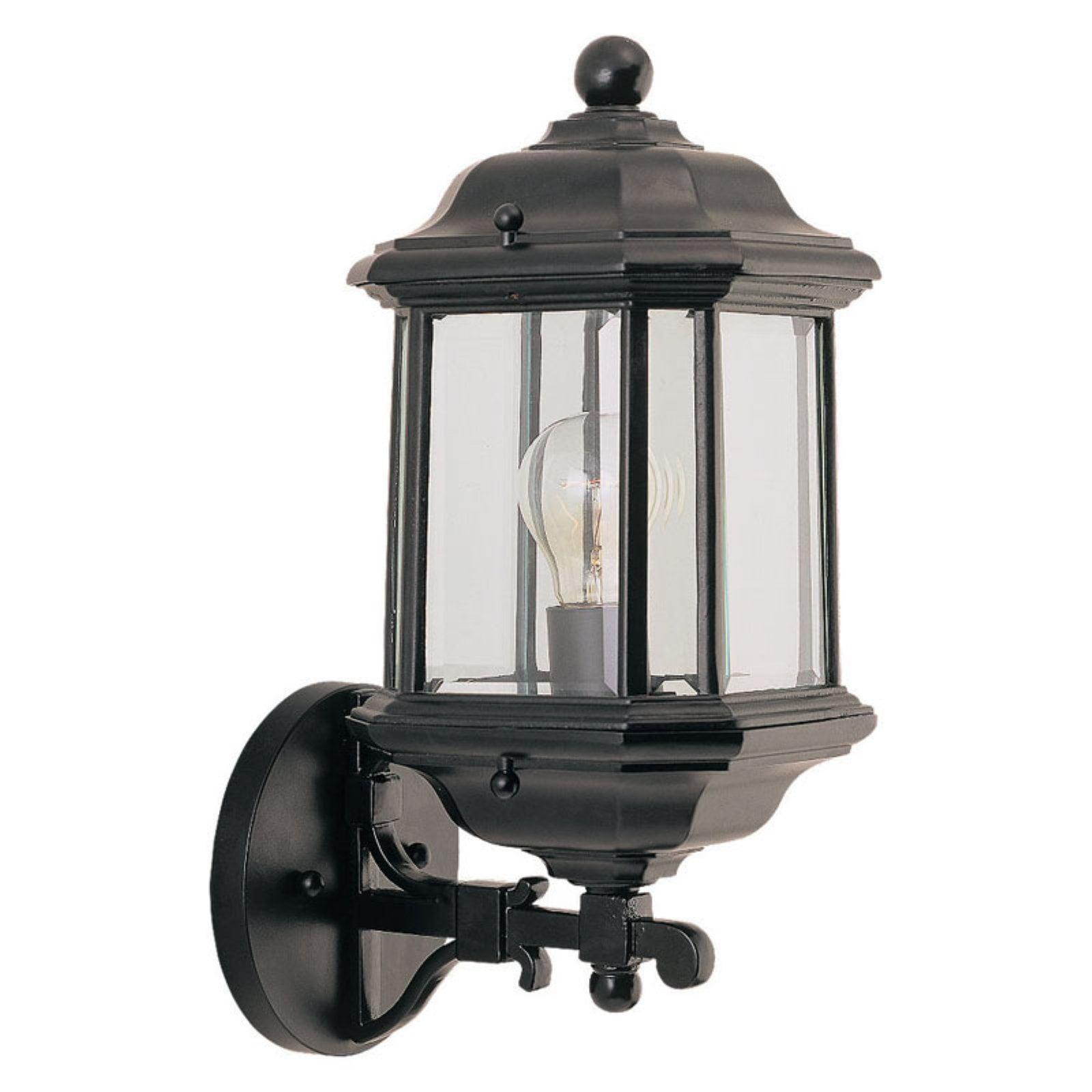 Sea Gull Kent Outdoor Wall Lantern - 14.25H in. Black