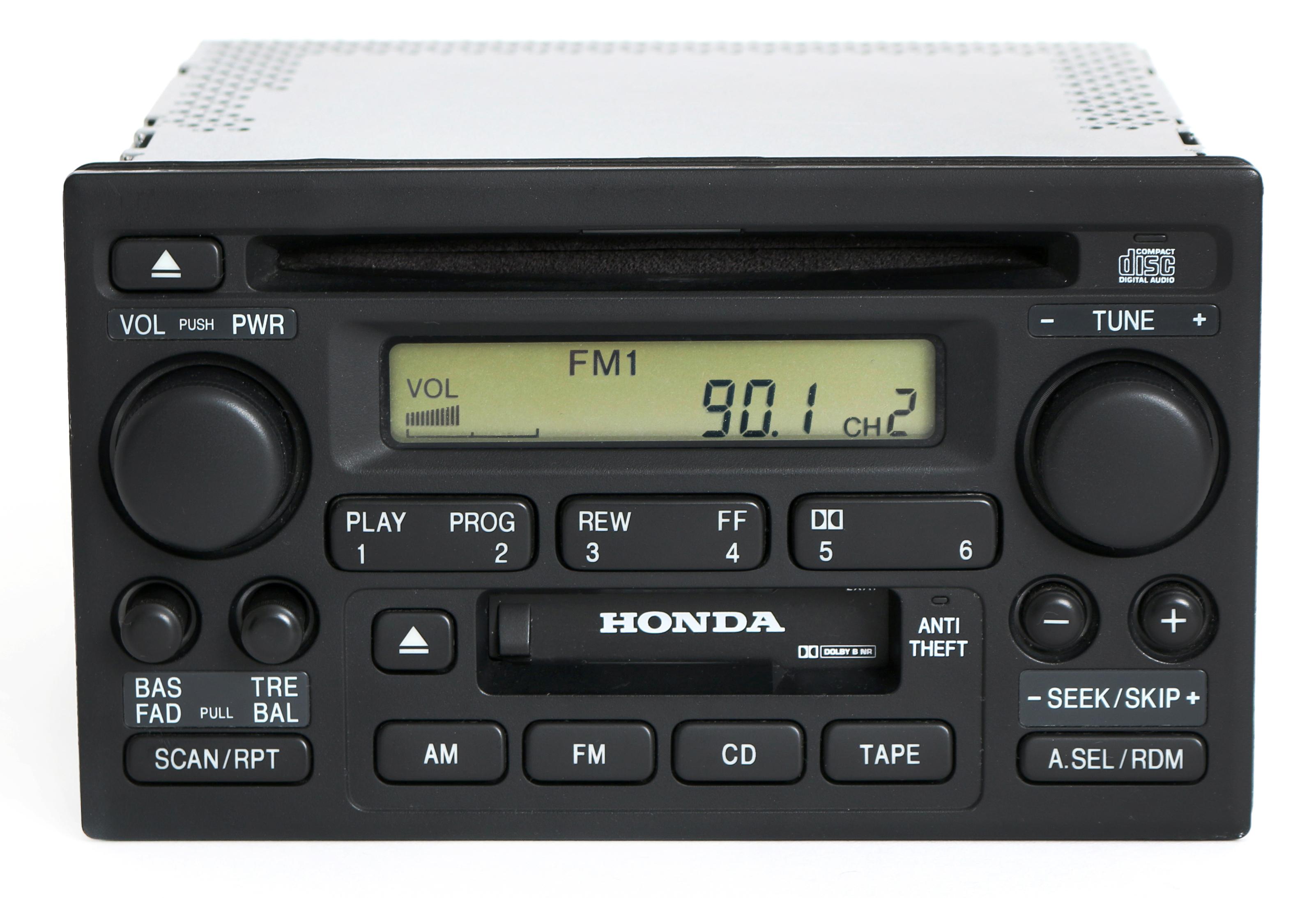 Honda Accord 2001-02 Radio AM FM CD Cassette Player 39101-S84-A510-M1 Face 2XA1 Refurbished by Honda