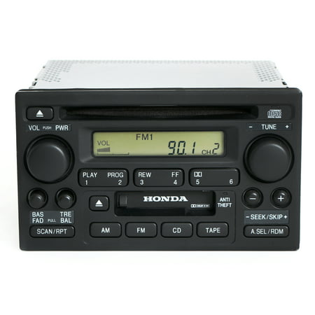 Honda Accord 2001-02 Radio AM FM CD Cassette Player 39101-S84-A510