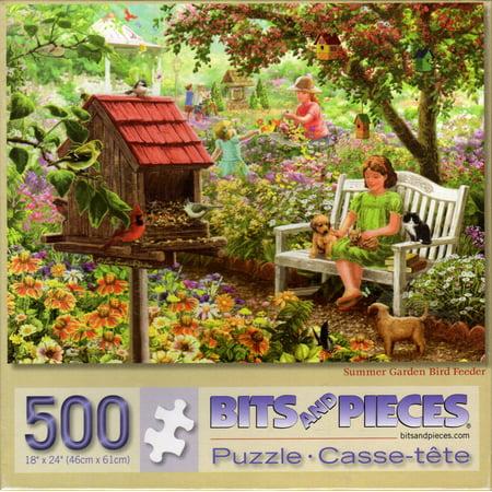 Summer Garden Bird Feeder 500 Piece Puzzle