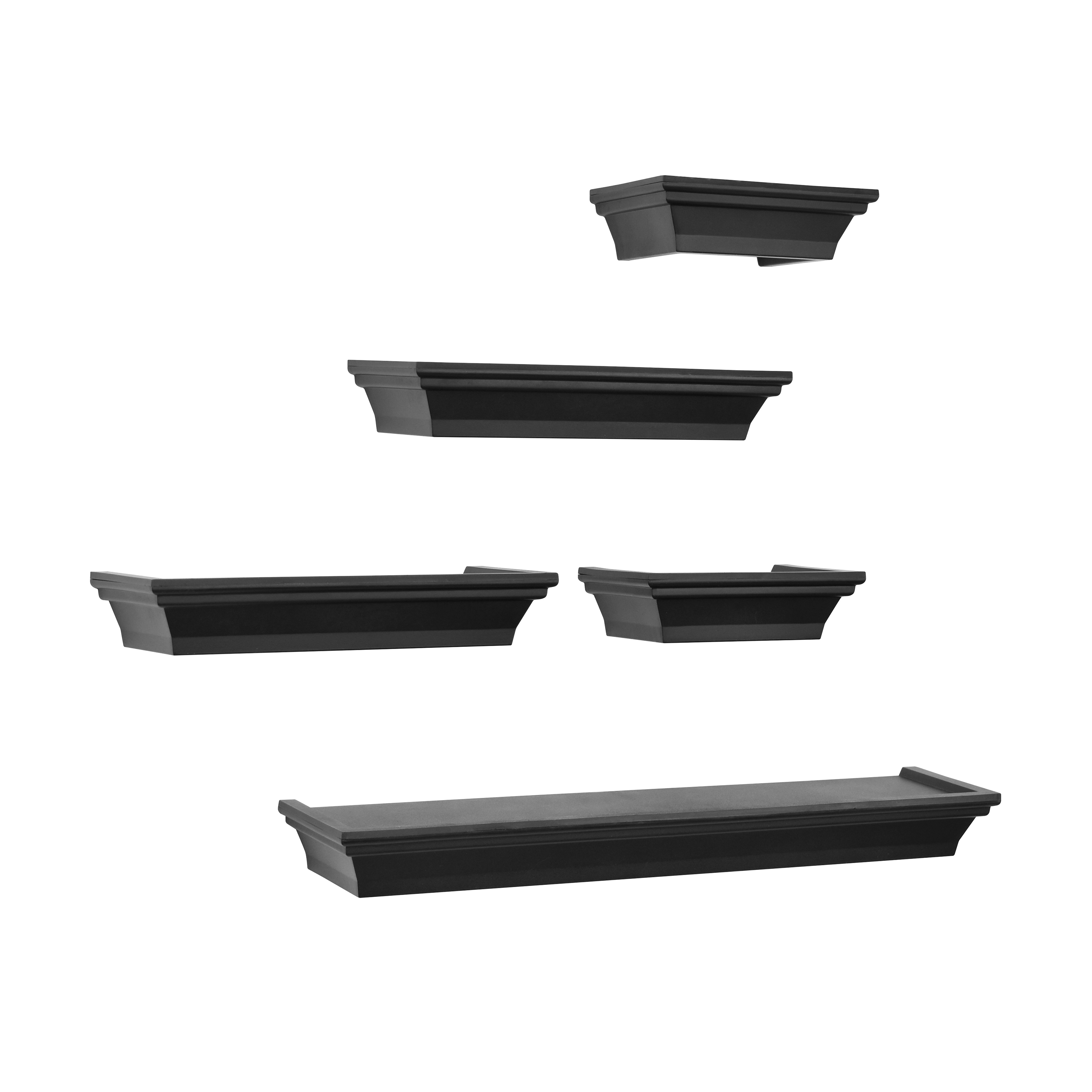 Mainstays 5 Piece Orted Black Ledge