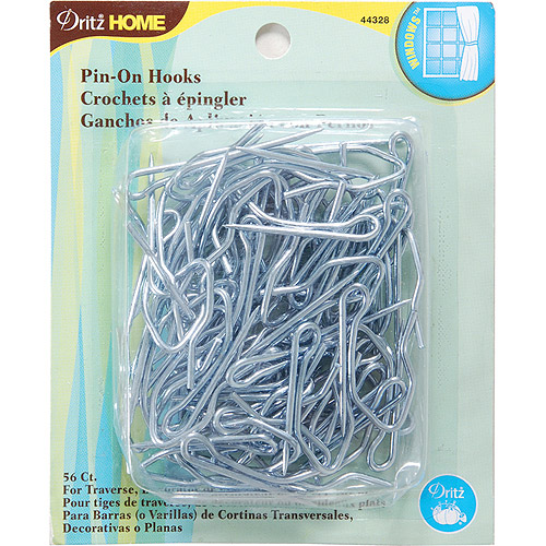Dritz Home Pin-On Drapery Hooks, 56/pkg