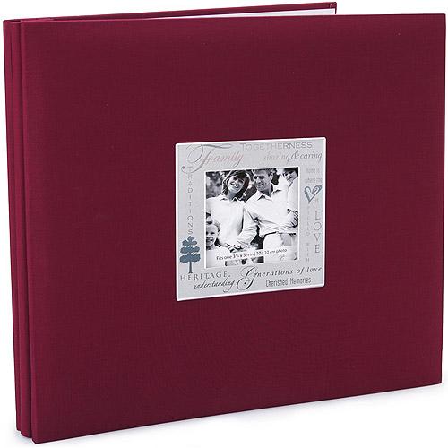 Expressions Family Postbound Album 12''X12'', Burgundy