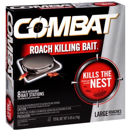 Combat Large Roach Killing Bait, 8 count