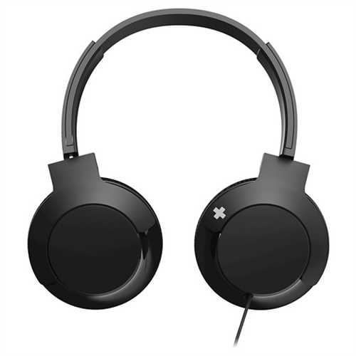 Refurbished Philips BASS+ SHL3075BK On-Ear Headphones with Mic - Black