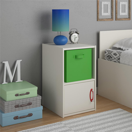 Lucerne Nightstand by Altra, White Stipple by Ameriwood