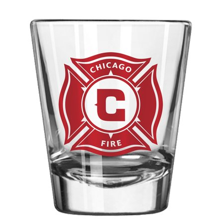 Chicago Fire 2oz. Collectible Game Day Shot Glass - No Size - Custom Printed Shot Glasses No Minimum