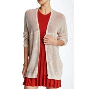 Wild Pearl NEW Beige Tan Marl Size XS Junior Lightweight Cardigan Sweater