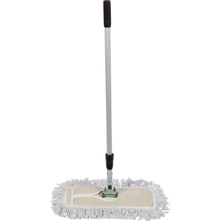Tidy Tools 18 inch Cotton Dust Mop with Metal Telescopic Handle and Frame. 18'' X 5'' Wide Mop Head with Cut -
