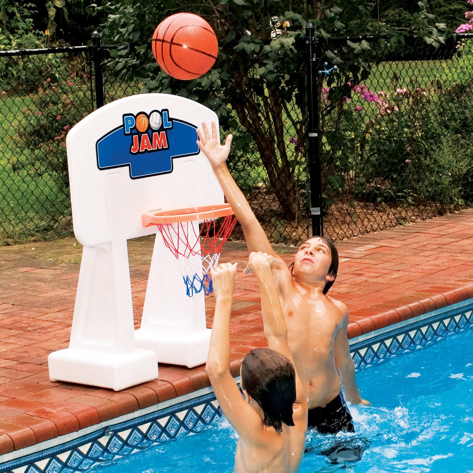 Pool Jam Basketball Game For In-Ground Pools by INTERNATIONAL LEISURE PRODUCTS