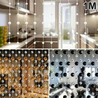 2/5/10PCS 1M Romantic Crystal Clear Bead Garland Hanging Curtain Strand Home Door Wedding Hanging Decoration