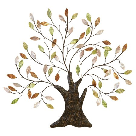 metal treeshell leaves anytime wall decor upgrade option - Metal Tree Wall Decor