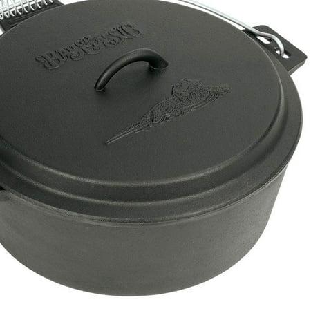Bayou Classic Seasoned Cast Iron 10 Quart Chicken Fryer Dutch Oven Pot With Lid Walmart Com Walmart Com