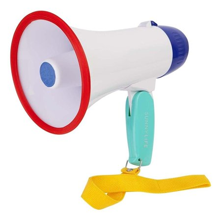 Sunnylife Lifesaver Plastic Mini Megaphone - Battery Power Megaphone for Kids or Adults (Mini Megaphones)