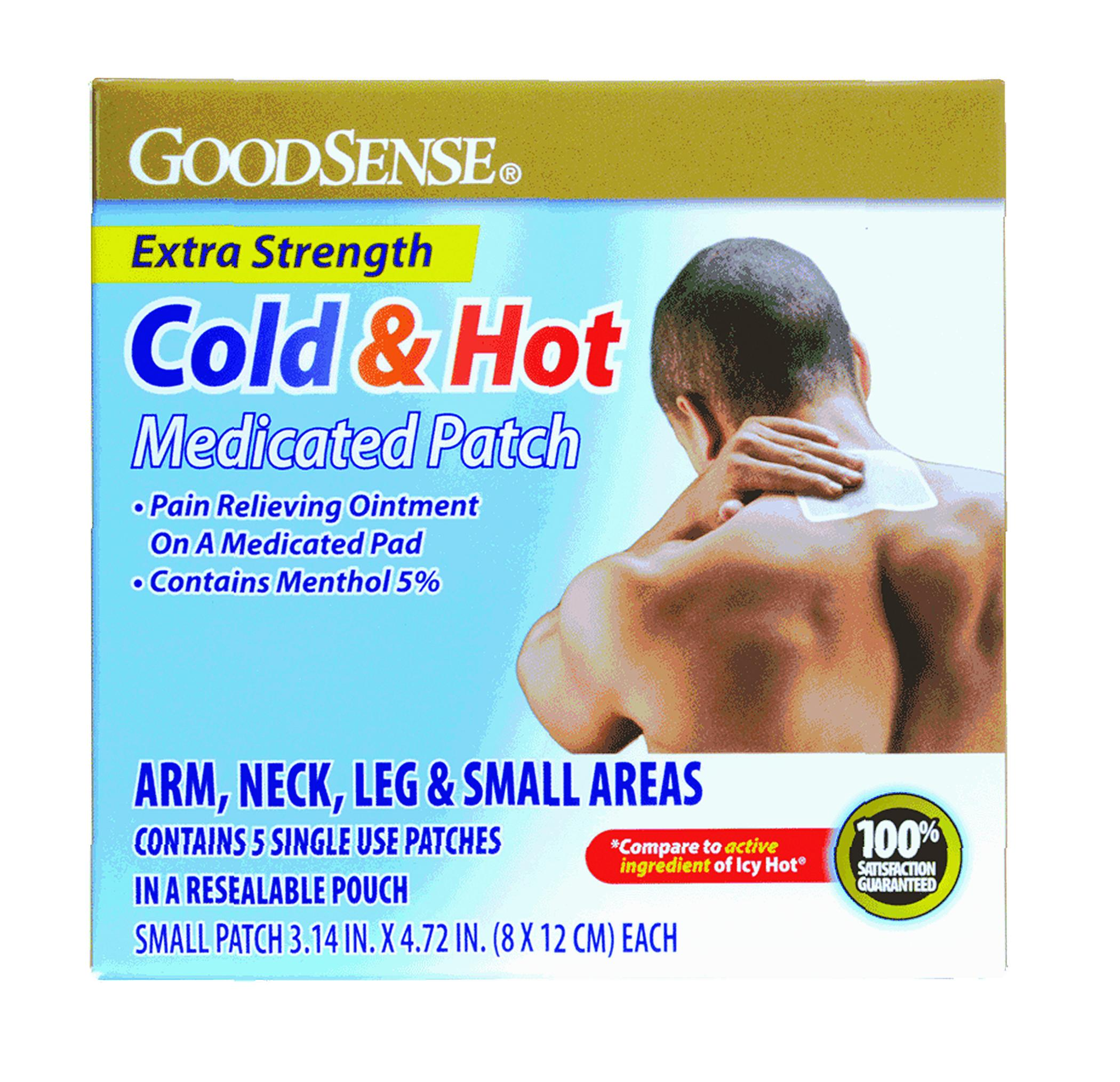 "Hot and Cold Medicated Patch, 3-1/7"" x 4-3/4"" (5 Count)"