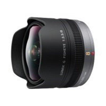 Panasonic Lumix H-F008 - Fisheye lens - 8 mm - f/3.5 ED - Micro Four Thirds - for Lumix GX7; Lumix G DMC-G7, G70, G7H, G7M, G7W, GH3WA, GX8, GX80, GX8A, GX8H, GX8K, GX8M ()