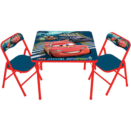 Disney Cars 2 Activity Table and 2 Chairs Set