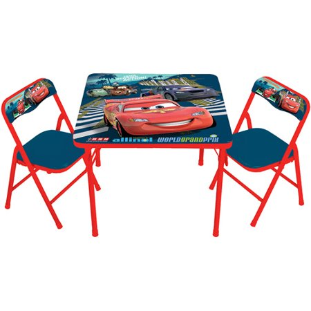 Disney Cars 2 Activity Table And 2 Chairs Set Walmart Com
