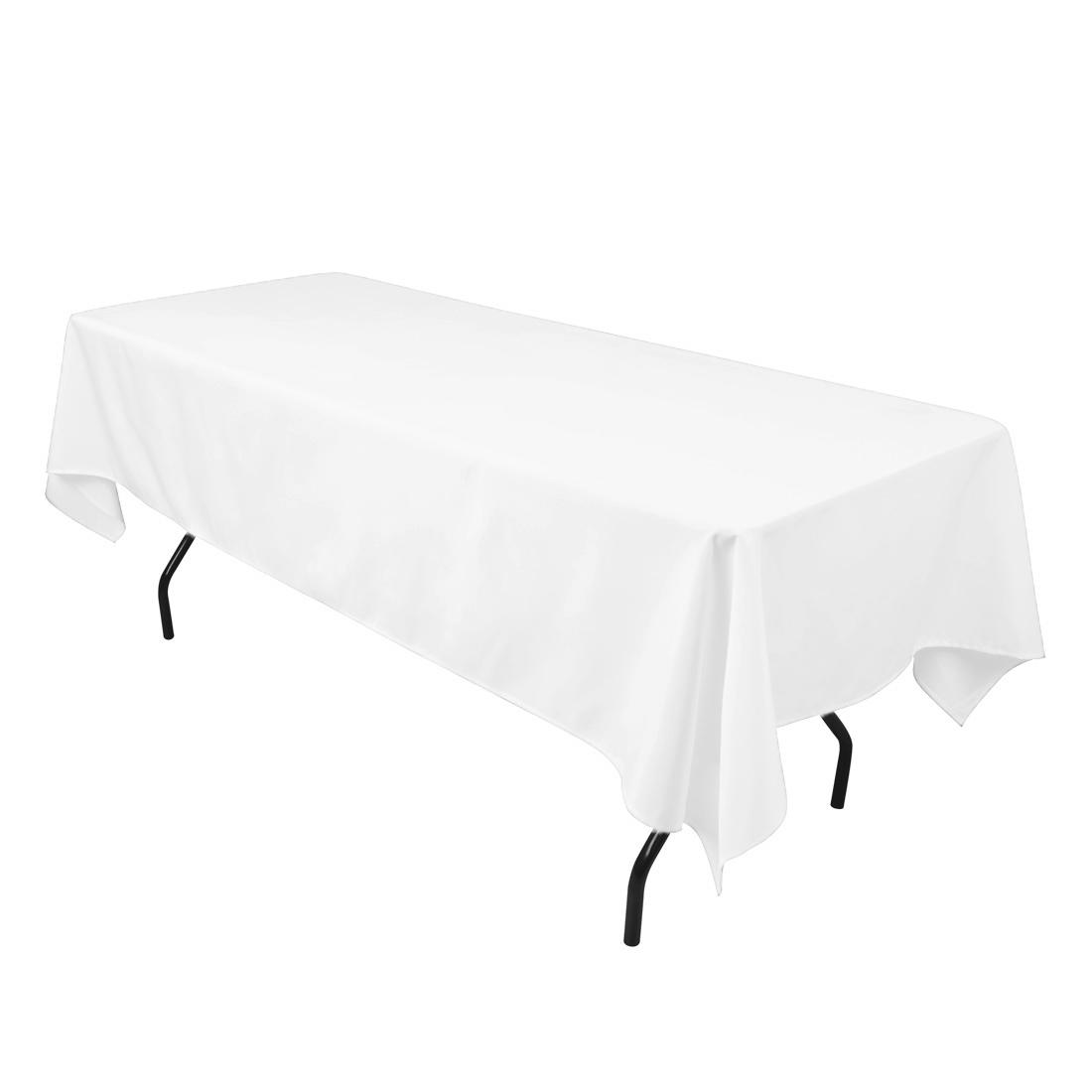60 X 102 In. Rectangular Economy Polyester Tablecloth White