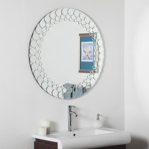 Decor Wonderland Circles Bathroom Mirror by Overstock