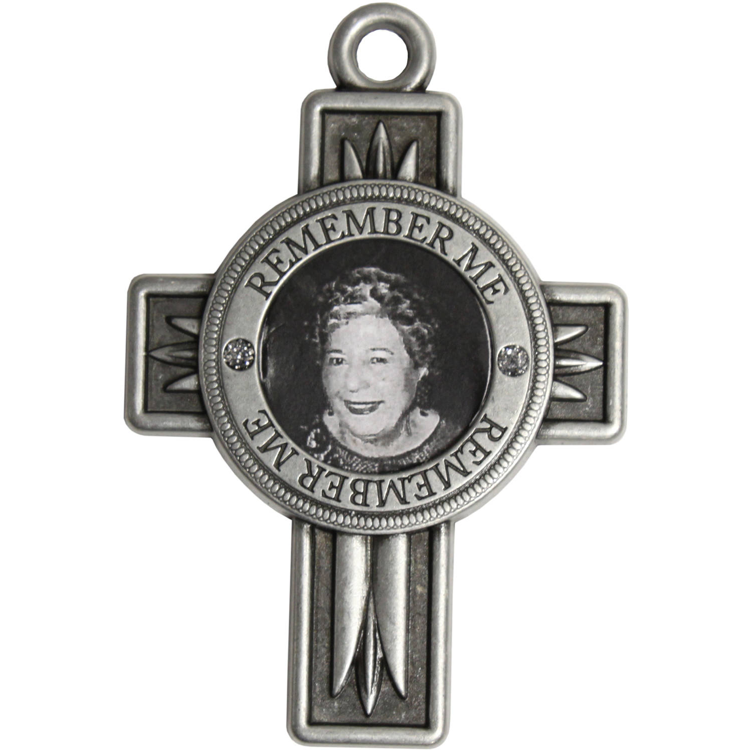 Pewter Remembrance Cross Ornament