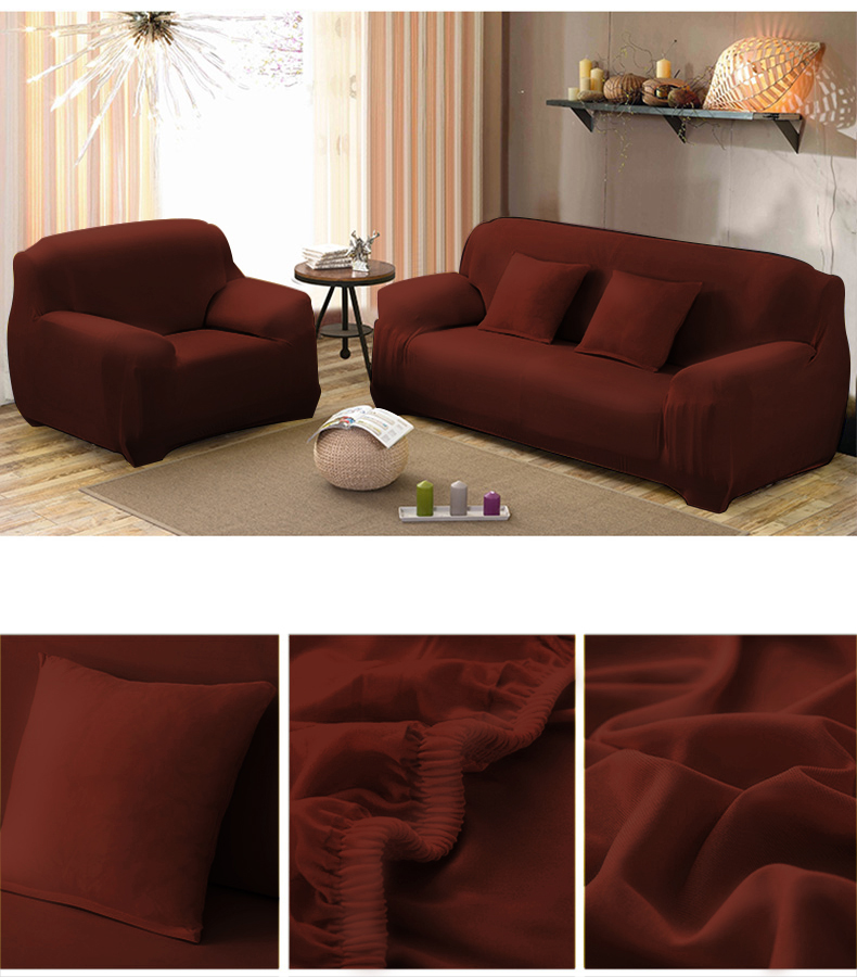 Couch Sofa Covers,1-4 Seater Sofa Furniture Protector Home Full Stretch Lightweight Elastic Fabric Soft Couch Slipcovers by
