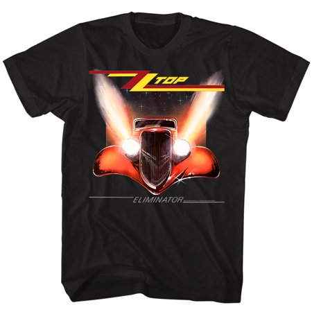 Zz Top Rock Band Music Group Eliminator Album Cover Adult T Shirt Tee