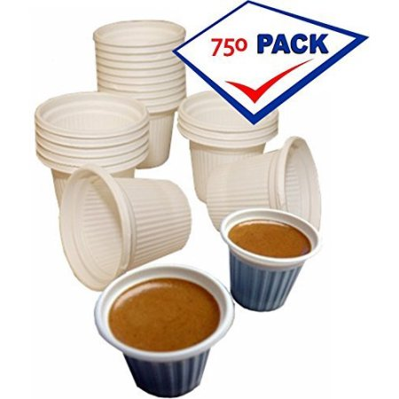 Mini disposable Cuban Style and espresso coffee cups 3/4Oz Pack of 750