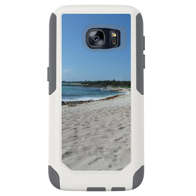 DistinctInk™ Custom White OtterBox Commuter Series Case for Samsung Galaxy S7 - Beach Scene Akumal Mexico