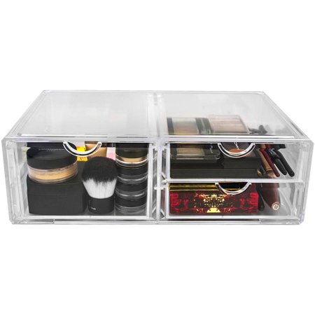Sorbus Acrylic Cosmetics And Jewelry Storage Case X Large