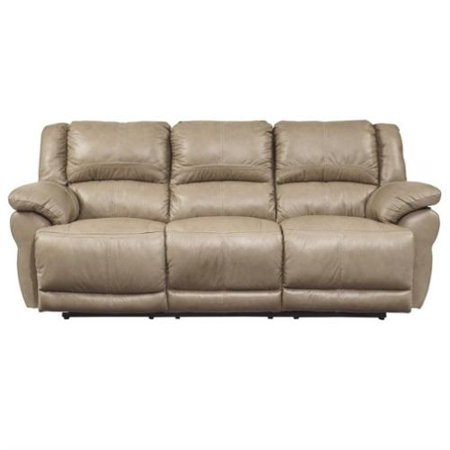 Ashley Furniture Lenoris Leather Power Reclining Sofa In