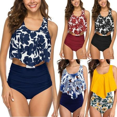 Women Sexy Dot Printed Bikini Set Push-Up Padded Swimwear Swimsuit (Dot Print Bikini)