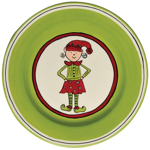 Thompson and Elm M.Bagwell 8.5'' Girl Elf Salad Plate