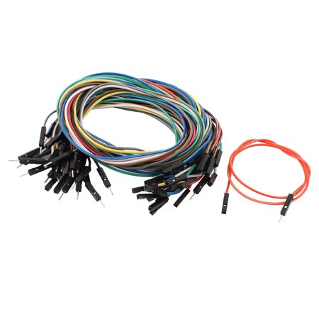 30PCS 2.54mm Pitch 1P Male to Female Breadboard Dual Head Jumper Wire Cable 40cm - image 3 of 3