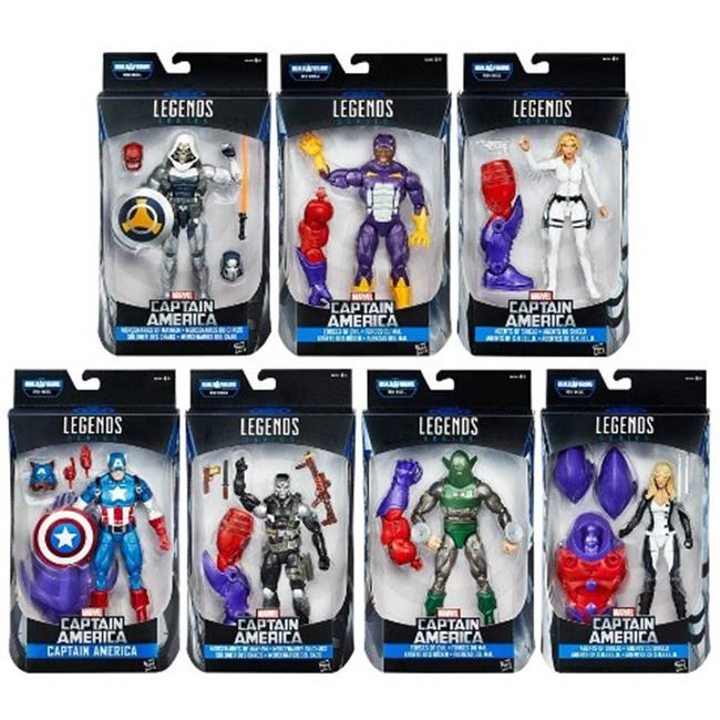 Hasbro HSBB6355 6 in. Captain America Civil War Legends Assorted, Pack of 8 by