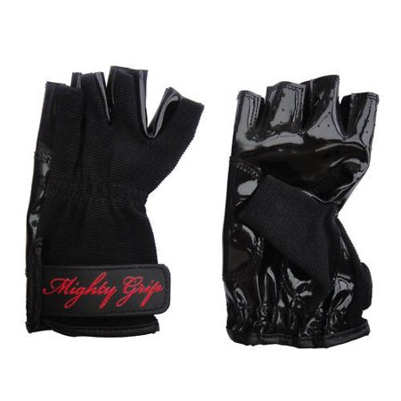 Mighty Grip Pole Dance Gloves-Black-Large ()