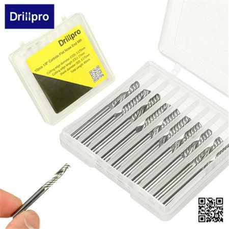 Drillpro 10Pcs 1/8