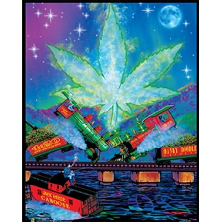 Trainwreck Non-Flocked Mini Black Light Poster 16 x 20