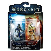 Warcraft Mini Figure 2-Pack, Horde Warrior and Alliance Soldier