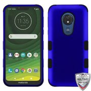 Motorola Moto G7 Power Phone Case Dual Layer [Shock Absorbing] [Military Grade] Heavy Duty Protection Tuff Hybrid Armor PC/TPU Rubber Rugged BLUE Phone Case Cover for Motorola Moto G7 Power