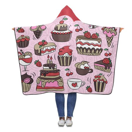 Pillow Talk Pattern - ASHLEIGH Sweet Pillow Talk Pattern Hooded Blanket 56x80 inches Adults Girls Boys Throw Polar Fleece Blankets Wrap