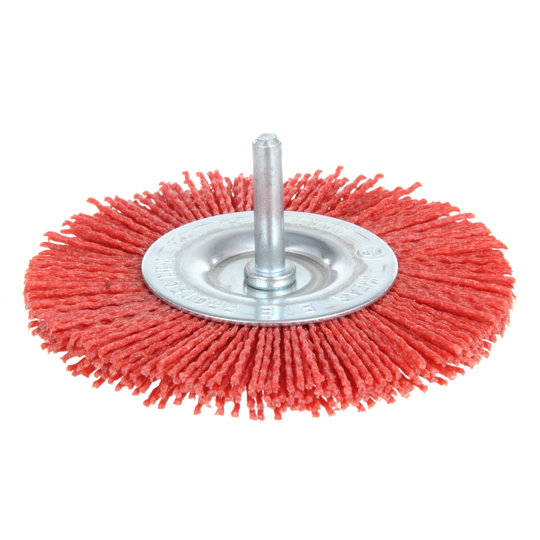 4 In 150 Grit Nylon Abrasive Wheel With 1//4 In Shank