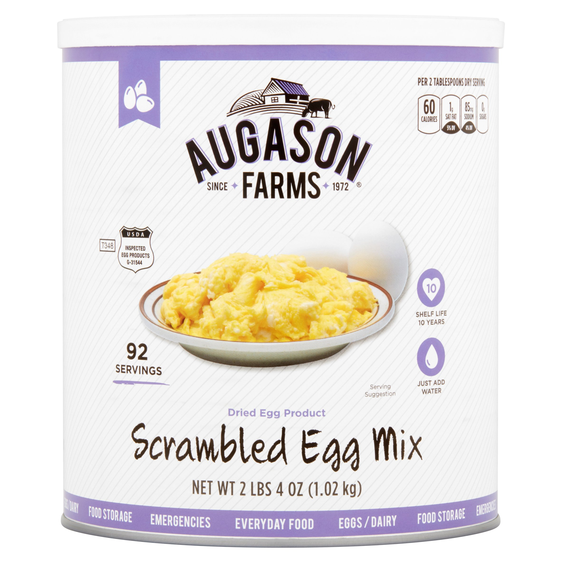 Augason Farms Scrambled Egg Mix, 2 lbs 4 oz